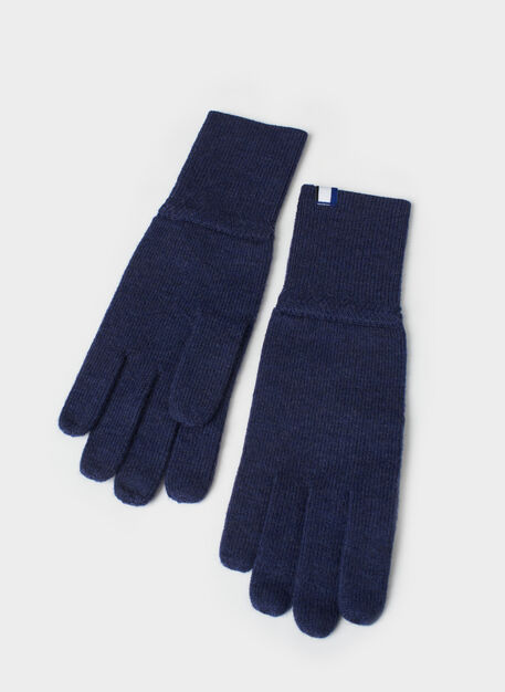 Cozy Merino Gloves, Heather Dark Navy | Kit and Ace