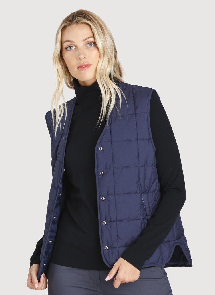 Keep Pedalling Vest, Dark Navy | Kit and Ace