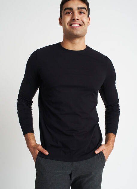 Ace Long Sleeve Tee | Premium Cotton, Black | Kit and Ace