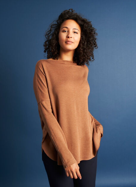 Burrow Pullover, Heather Toffee | Kit and Ace