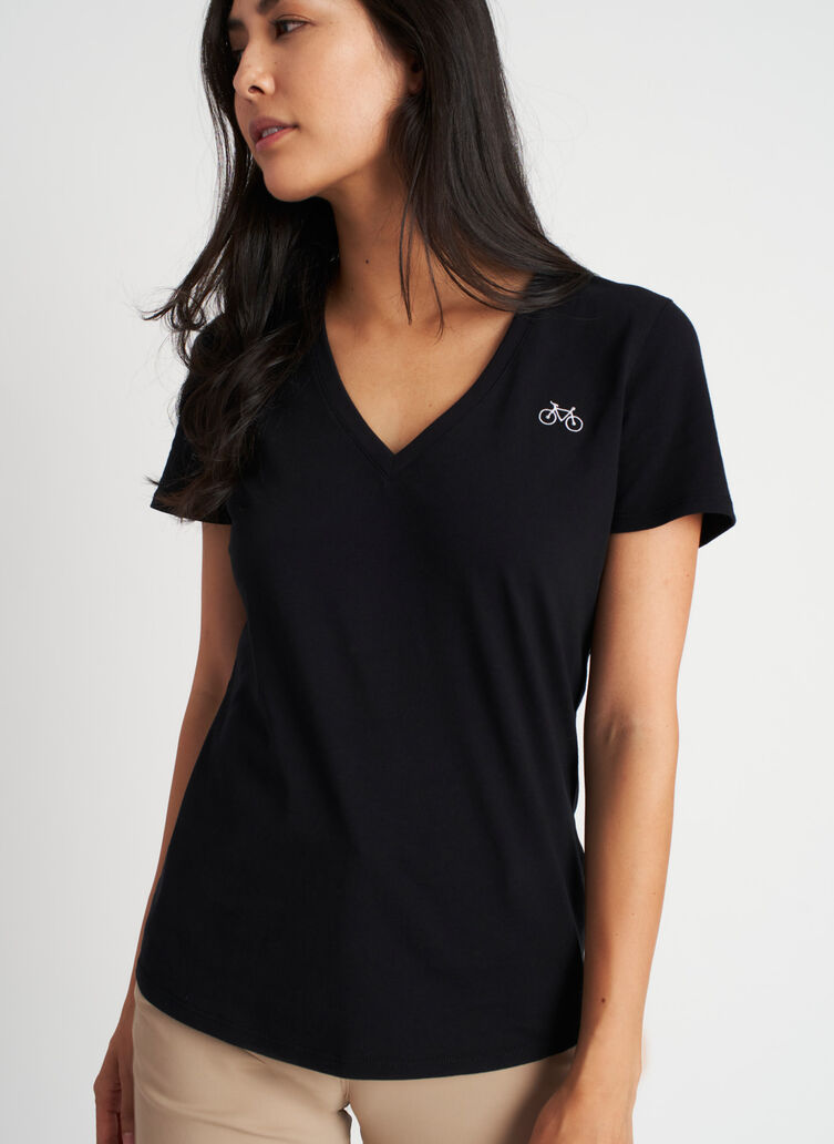 Movement V-Neck Tee, Black   Kit and Ace