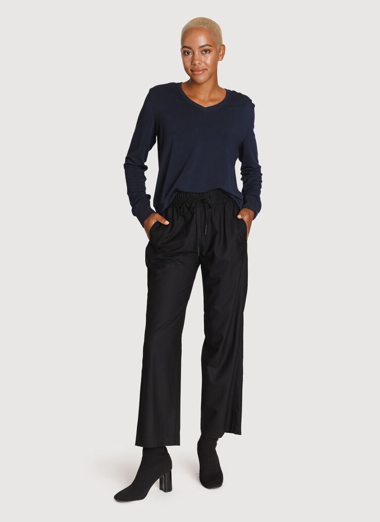 Relaxed Stretch Trousers, Black | Kit and Ace