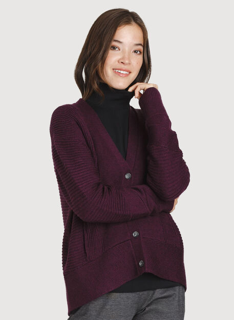 Ash Cardigan, HTHR Plum Wine | Kit and Ace