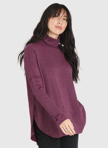 Burrow Turtleneck, HTHR Dark Plum | Kit and Ace