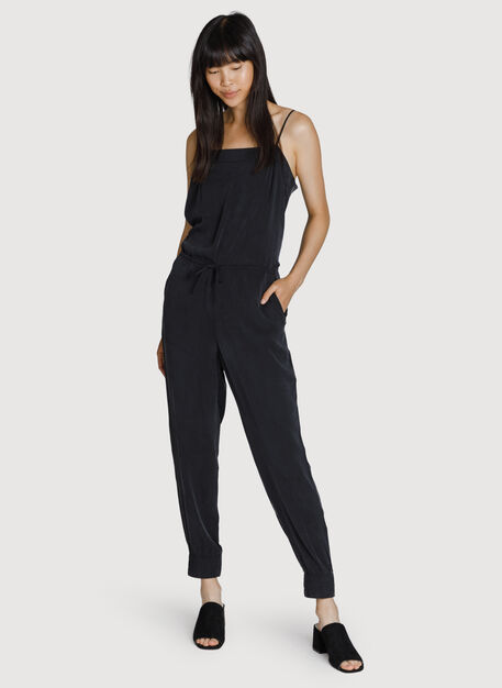 Easy Breezy Stretch Jumpsuit, BLACK | Kit and Ace