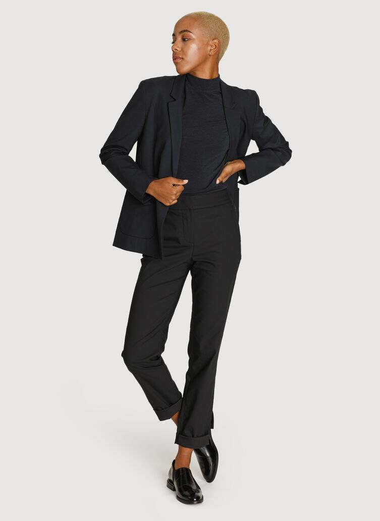 Classic Stretch Cropped Blazer, DK Navy | Kit and Ace