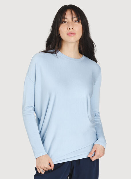 Wave Long Sleeve, HTHR Celestial Blue | Kit and Ace
