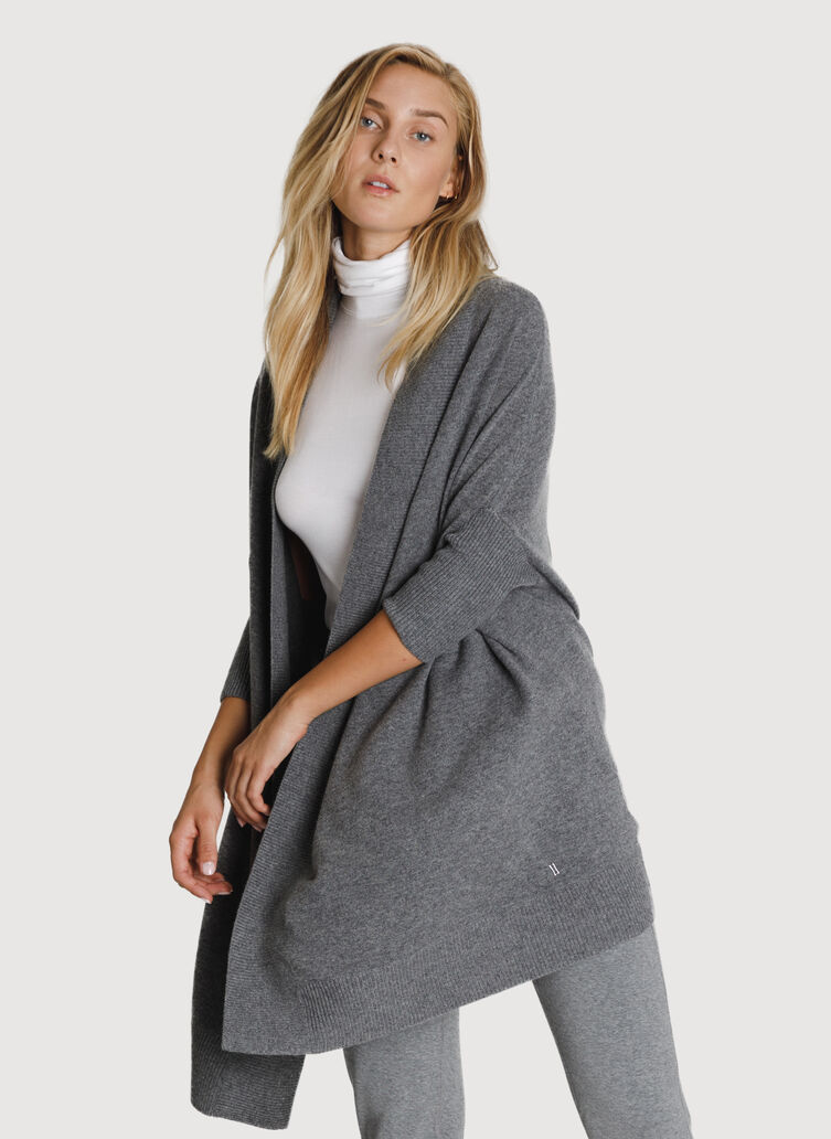 Comforter Wrap, HTHR Stone | Kit and Ace