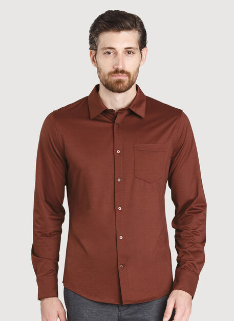 City Tech Classic Shirt, Cherrywood   Kit and Ace