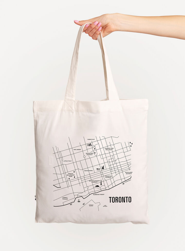 City Tote Bag, White/Toronto | Kit and Ace