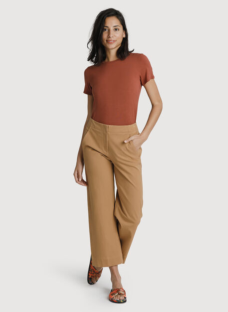 Coast to Coast Wide Leg Trouser, Sepia | Kit and Ace