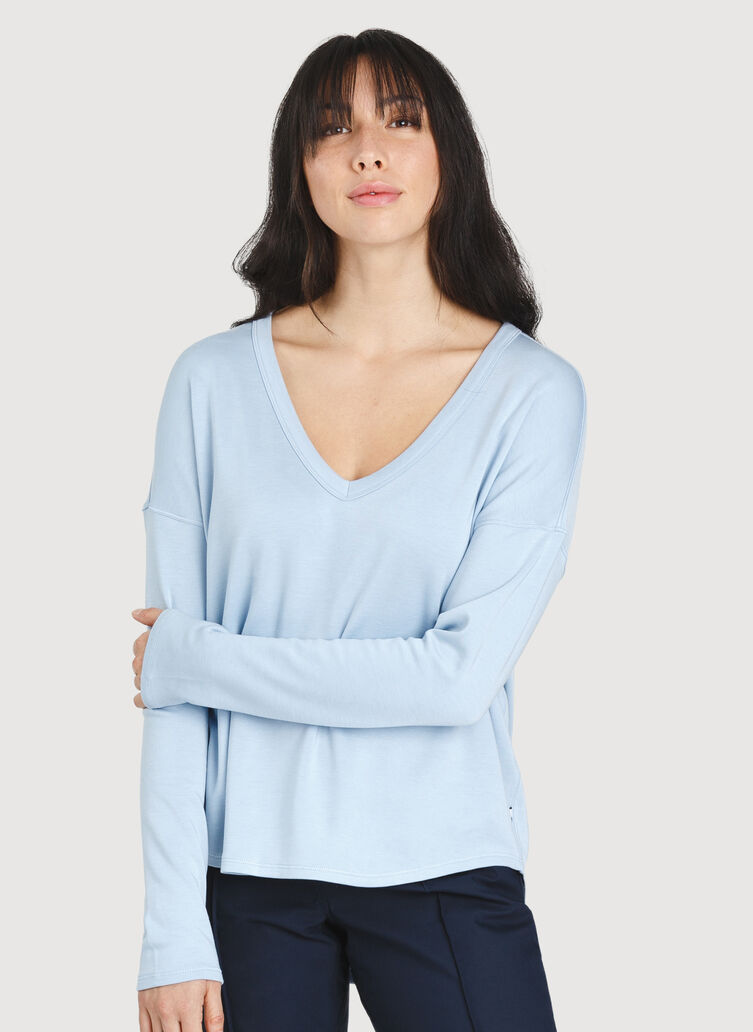 Easy Long Sleeve, HTHR Celestial Blue | Kit and Ace