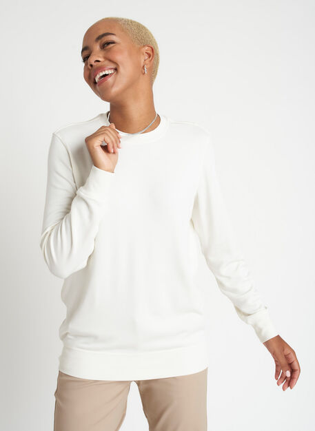 Weekend Pullover, Bone White | Kit and Ace