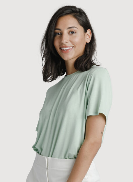 Seaside Tee, Smoke Green | Kit and Ace