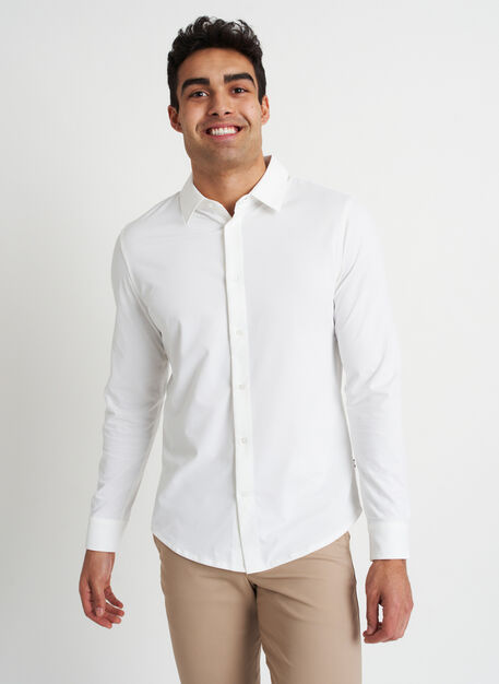 City Tech Vented Shirt, Bright White | Kit and Ace