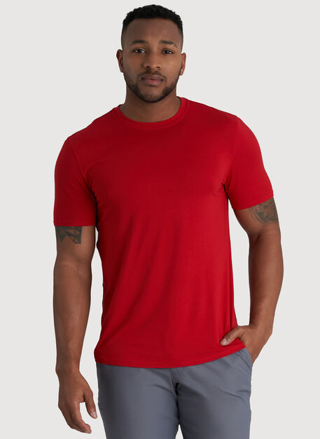 Ace Crew Tee, Crimson | Kit and Ace