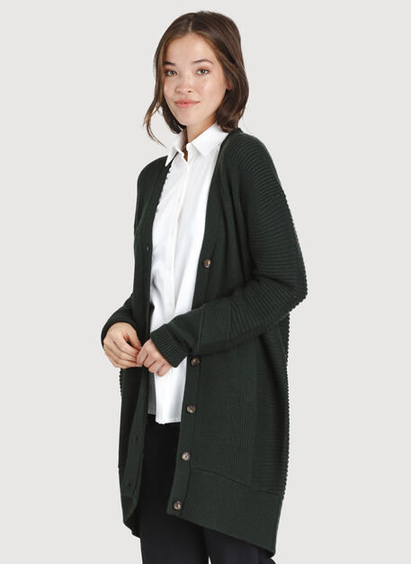 Ash Long Cardigan, Deep Forest | Kit and Ace