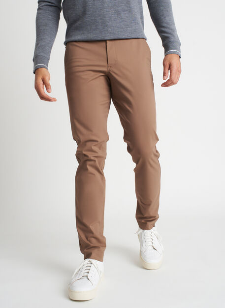 Commute Pants Slim Fit | Navigator Collection, Bark | Kit and Ace