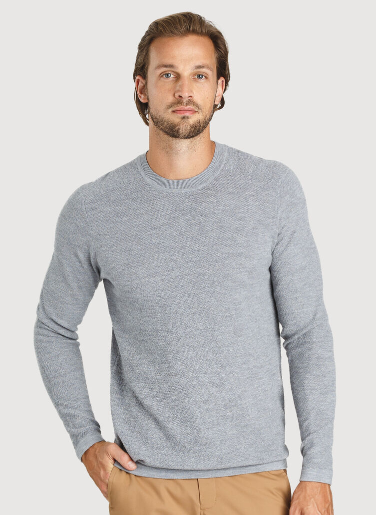 A to B Sweater, HTHR GREY | Kit and Ace