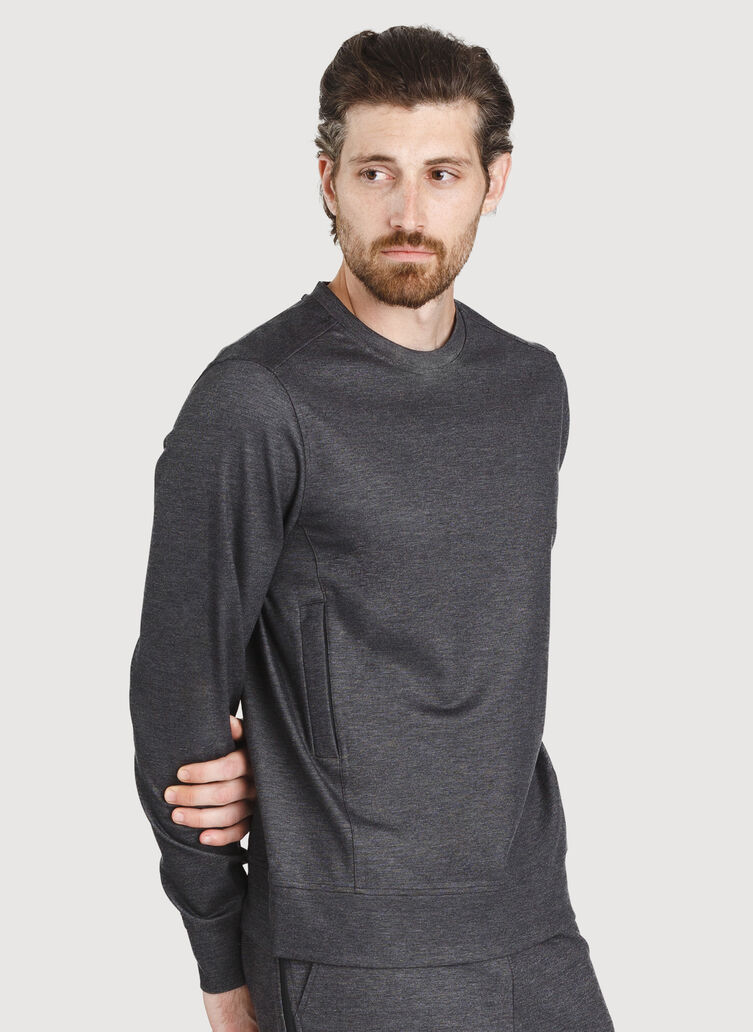 Comfort Pullover, Charcoal Melange | Kit and Ace