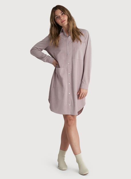 Moving Onward Shirt Dress, Coffee Chambray | Kit and Ace