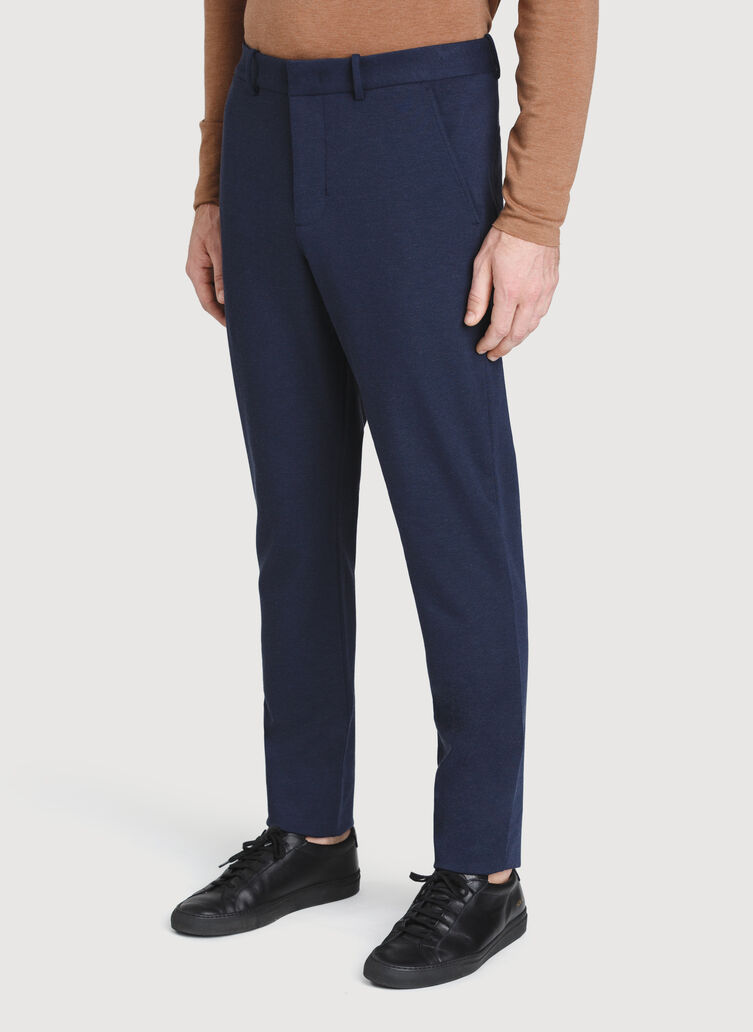Comfort Office Pants, Heather Dark Navy | Kit and Ace