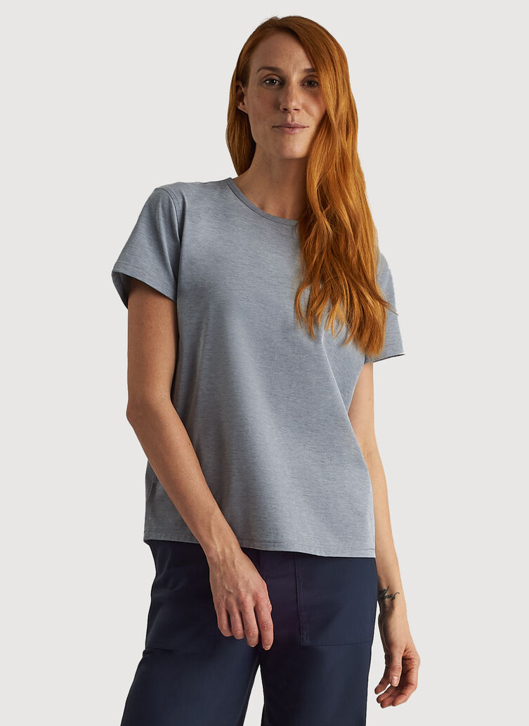 O.T.M. Crew Tee, DK Navy Chambray | Kit and Ace