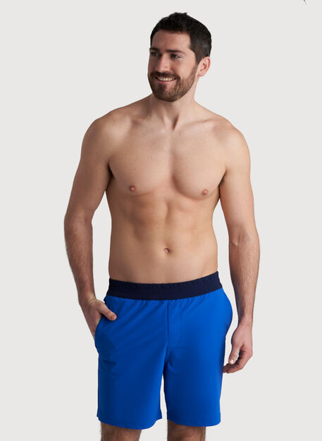 Beach to Boardroom Swim Shorts, Cobalt/Deep Marine | Kit and Ace