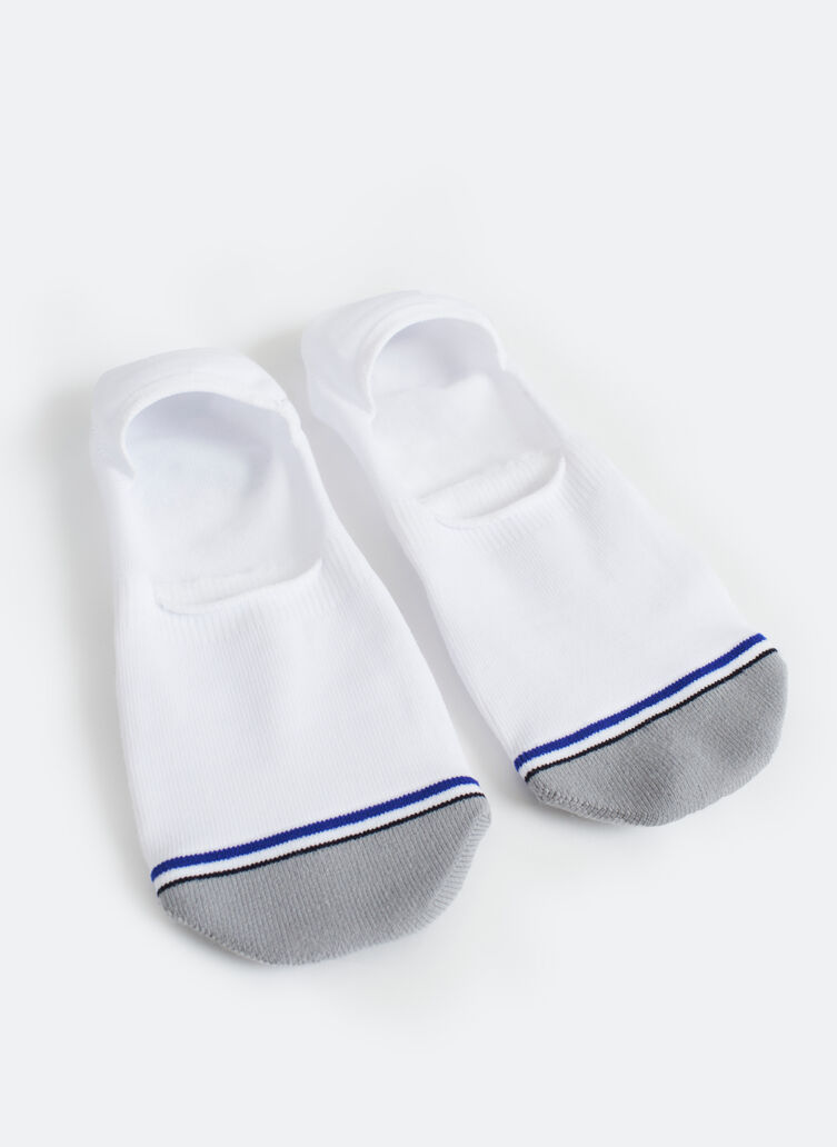 Motion No-Show Socks, White | Kit and Ace