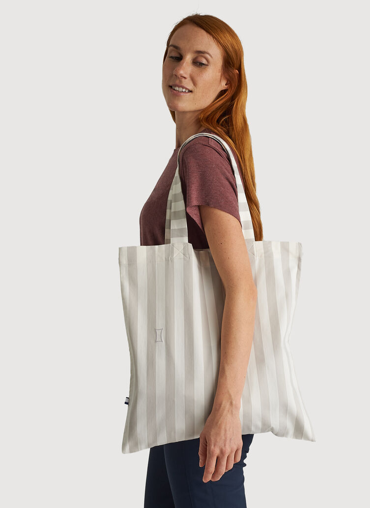 Tote Bag, LIDO STRIPE - SAND/BONE WHITE | Kit and Ace