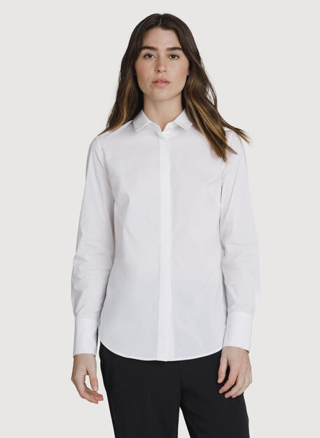 Stretch Tailored Blouse, Bright White | Kit and Ace