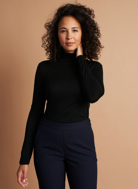 Effortless Merino Turtleneck, Black | Kit and Ace
