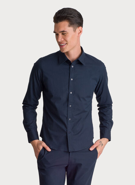 Blueprint Long Sleeve Button Up, DK Navy | Kit and Ace