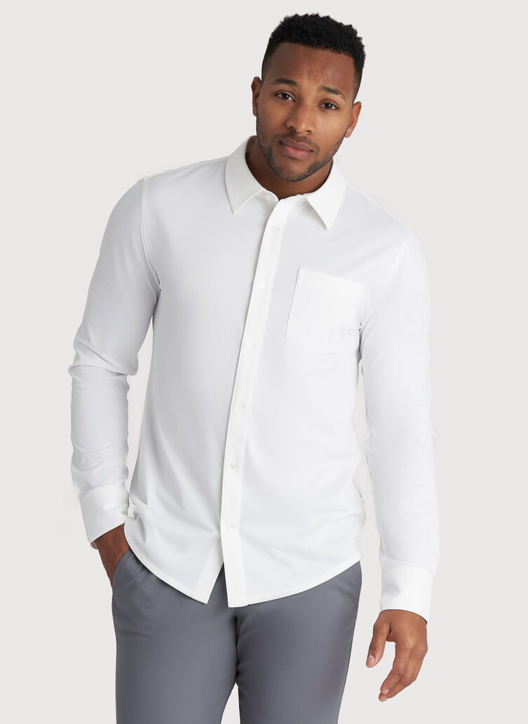 City Tech Classic Shirt, Bright White | Kit and Ace