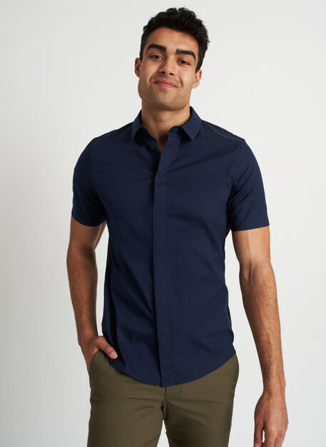 Stay Cool Short Sleeve Shirt, Dark Navy | Kit and Ace