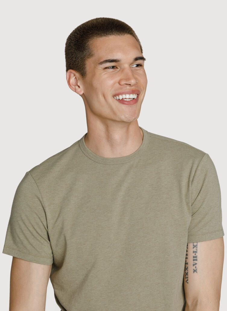 3 Pack Crew, Bright White-Olive-BLACK | Kit and Ace