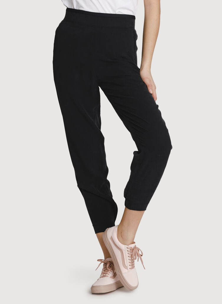 Easy Breezy Stretch Joggers, Black | Kit and Ace