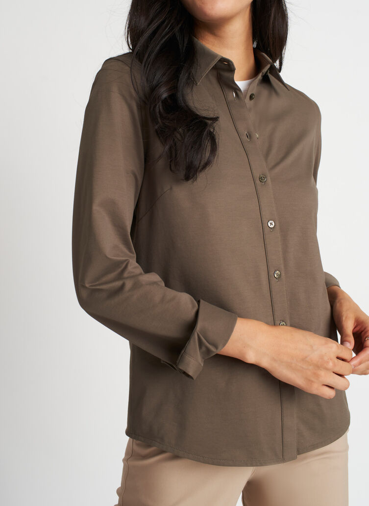 On the Move Classic Blouse, Sage | Kit and Ace