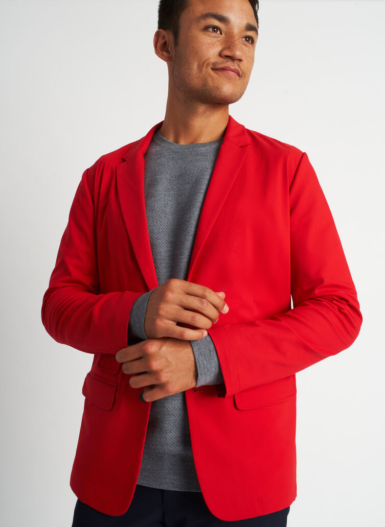 Commute Blazer | Navigator Collection, Crimson | Kit and Ace