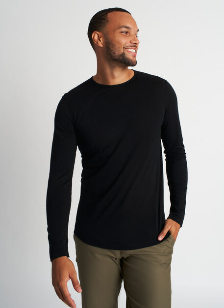 Merino Crewneck Tee, Black | Kit and Ace