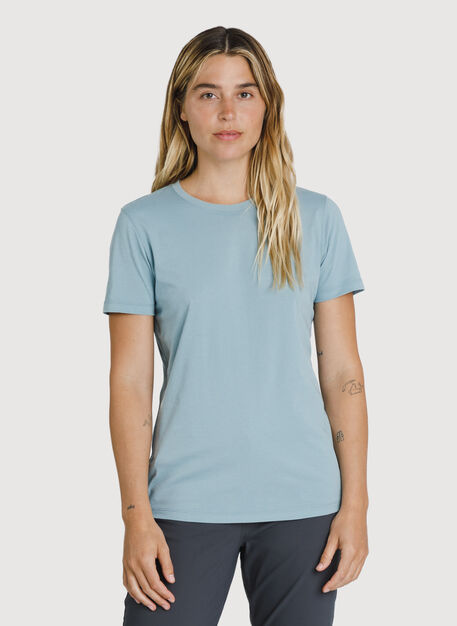 Kit Pima Crew Tee, Ocean Blue | Kit and Ace