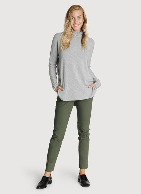 Burrow Brushed Turtleneck, HTHR Charcoal Grey   Kit and Ace