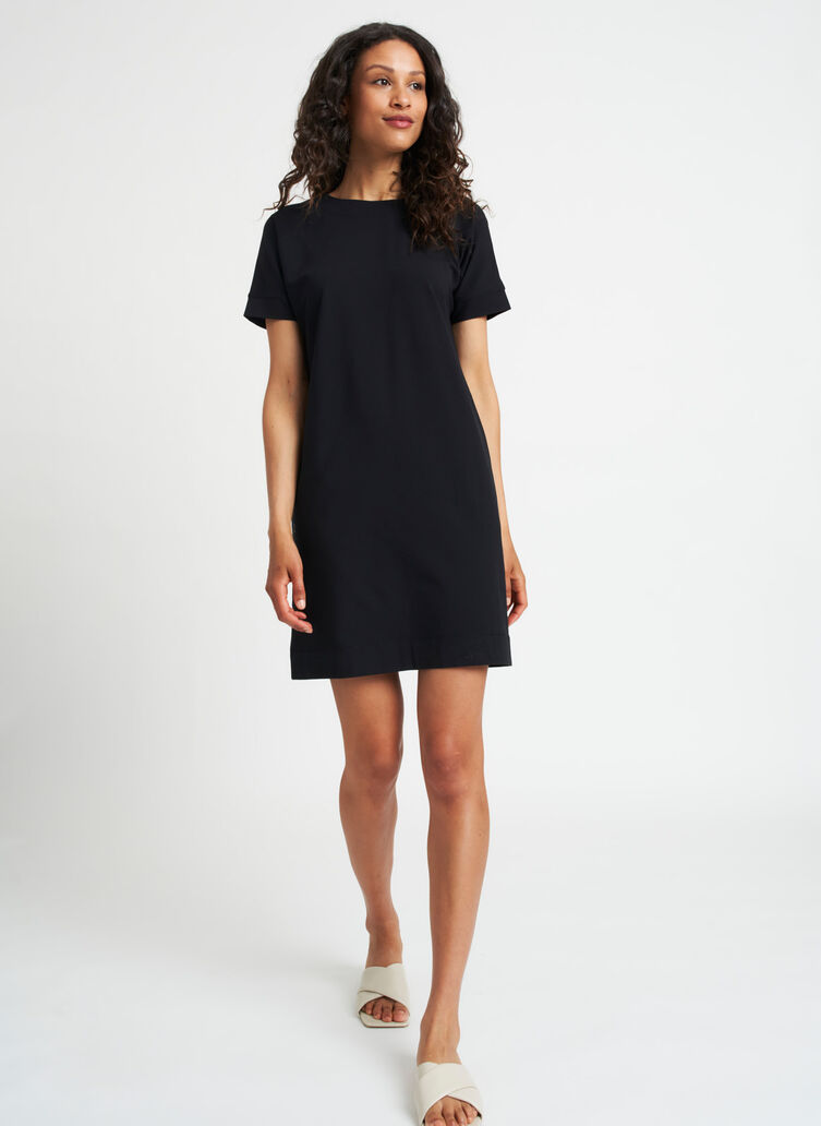 Back to Front Dress, Black | Kit and Ace