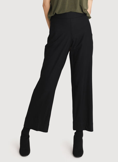 Cropped Stretch Trouser, BLACK | Kit and Ace