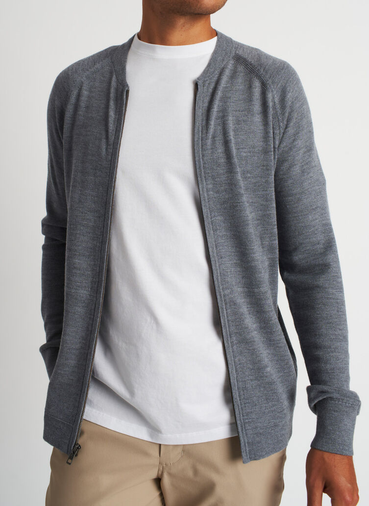 A to B Bomber, Heather Grey | Kit and Ace