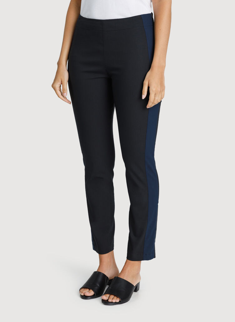 Classic Ankle Pant, BLACK/DK NAVY | Kit and Ace