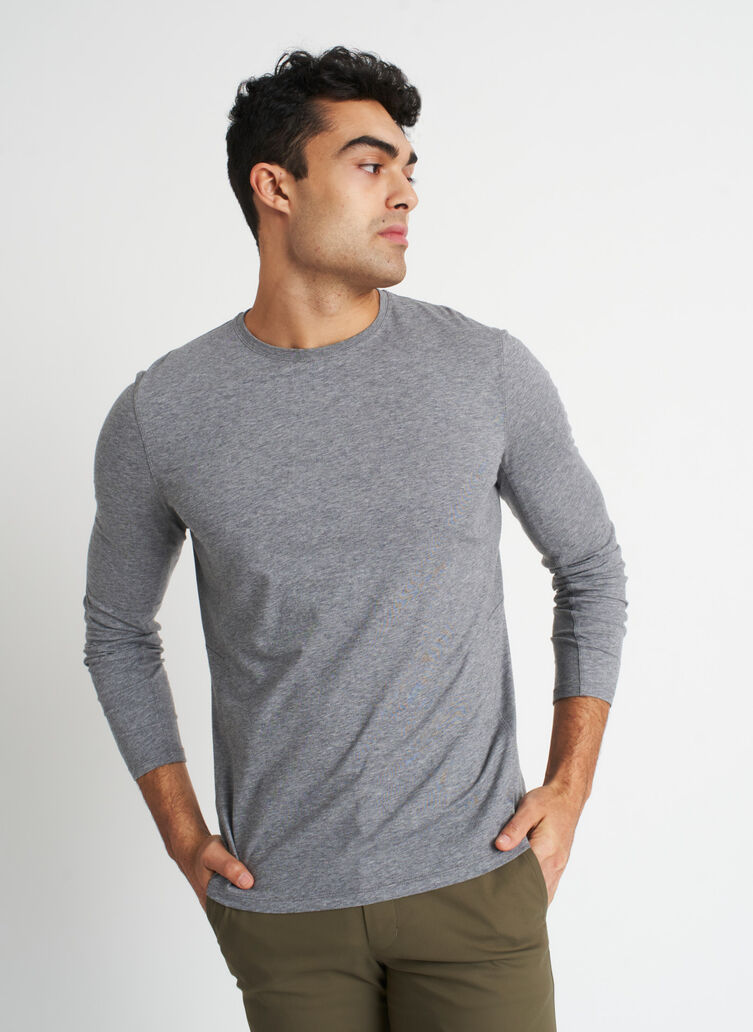 Ace Long Sleeve Tee, Heather Grey | Kit and Ace
