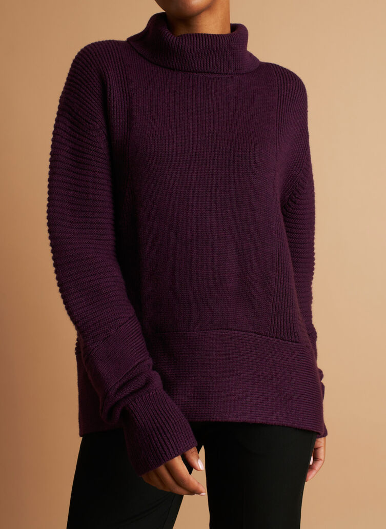 Ash Turtleneck Sweater, Heather Plum Wine | Kit and Ace