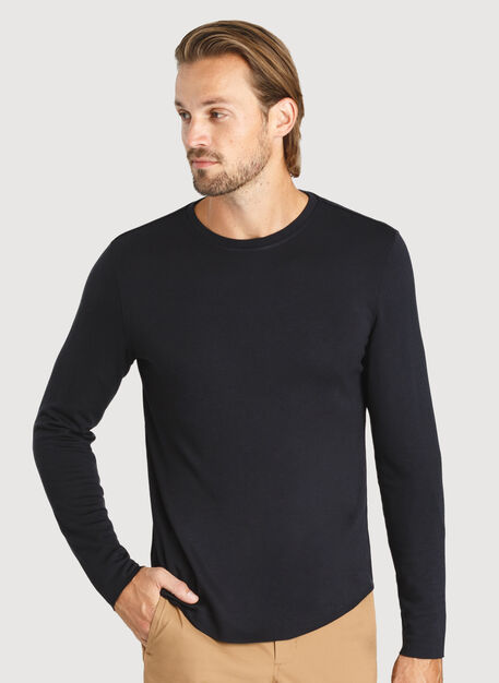 The B.F.T. Long Sleeve Crew, BLACK | Kit and Ace