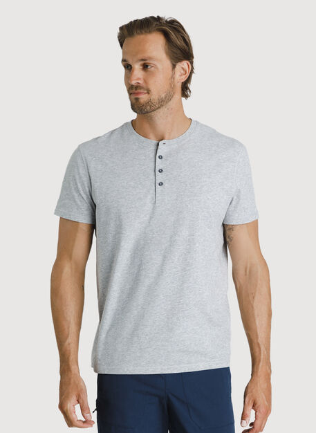 Ace Pima Henley Tee, HTHR Metal | Kit and Ace